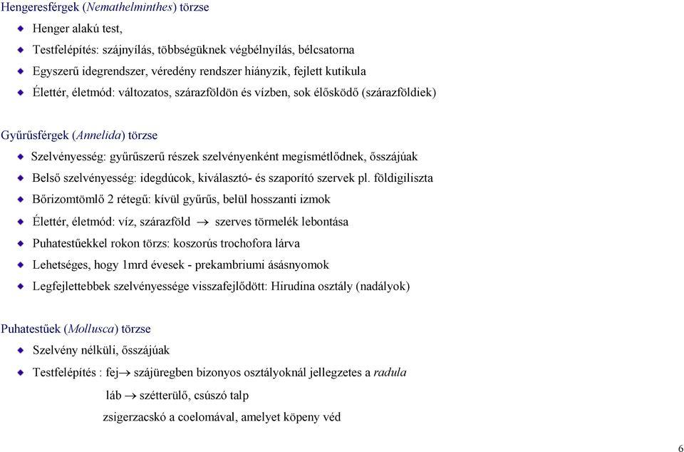 specifikus parazita elemzések)