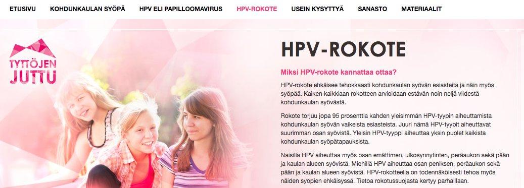 hpv rokotuksen tünet)