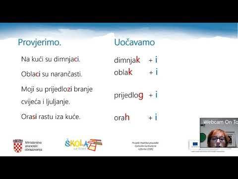 hrvatski jezik 5 razred padezi bemutató