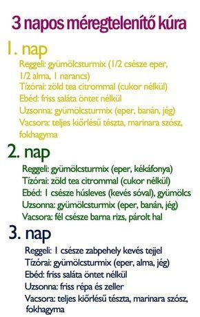 korom méregtelenítő recept)
