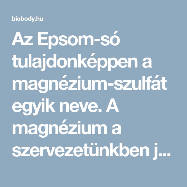 magnézium-szulfát a fogyáshoz