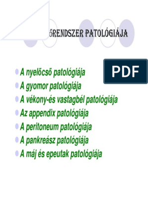 vastagbélrák patológiája