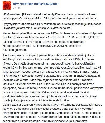 hpv rokotuksen tünet