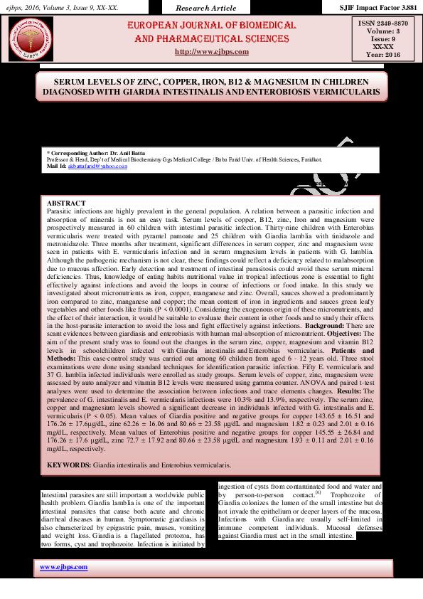enterobius vermicularis baba de vier mennekes