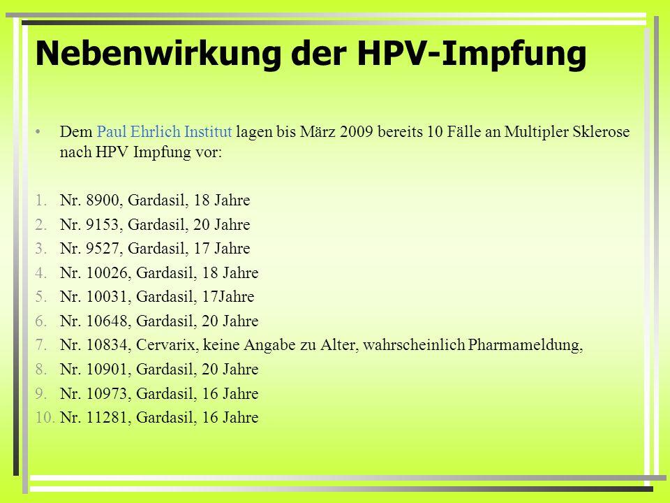 hpv impfung schmerzen férgek típusú férgek a férgekhez