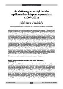 humán papillomavírus hpv típusok hpv pozitív és nagy fáradtság