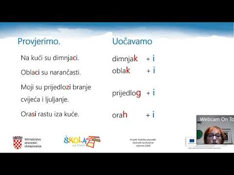 Hrvatski jezik 5 razred padeži - Tananyagok