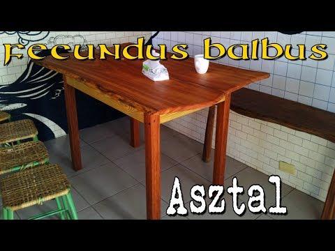 fascioliasis asztal