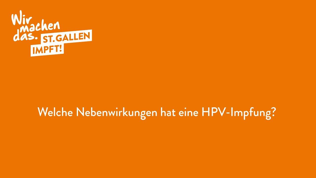 hpv impfung langzeitnebenwirkungen)