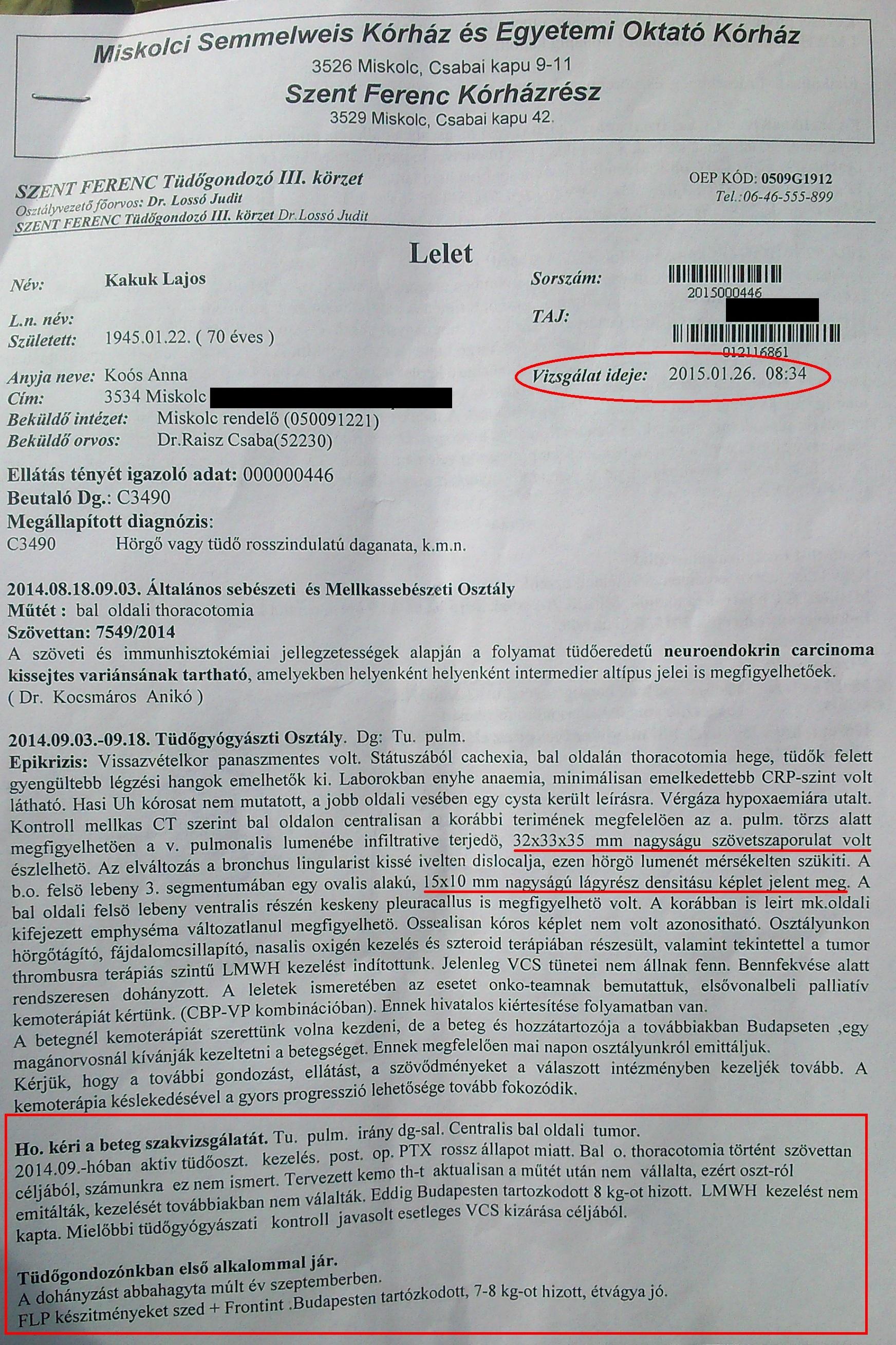 neuroendokrin rák diagnózis