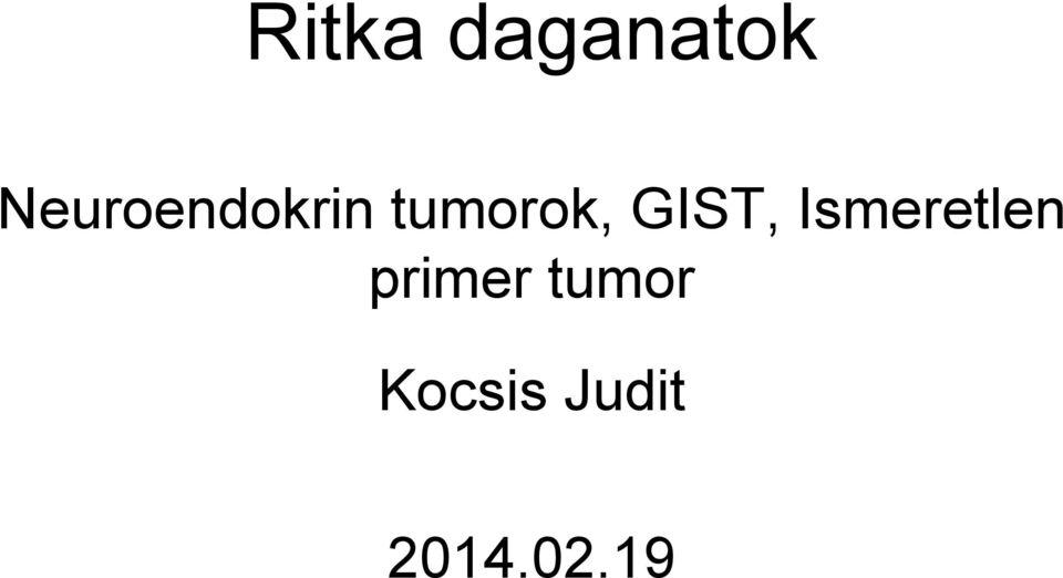 Karcinoid (tumorok)