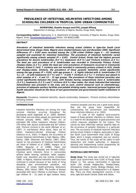 helminthiasis kezelési algoritmus)