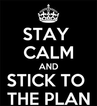 hogy ragaszkodjon egy tervhez)