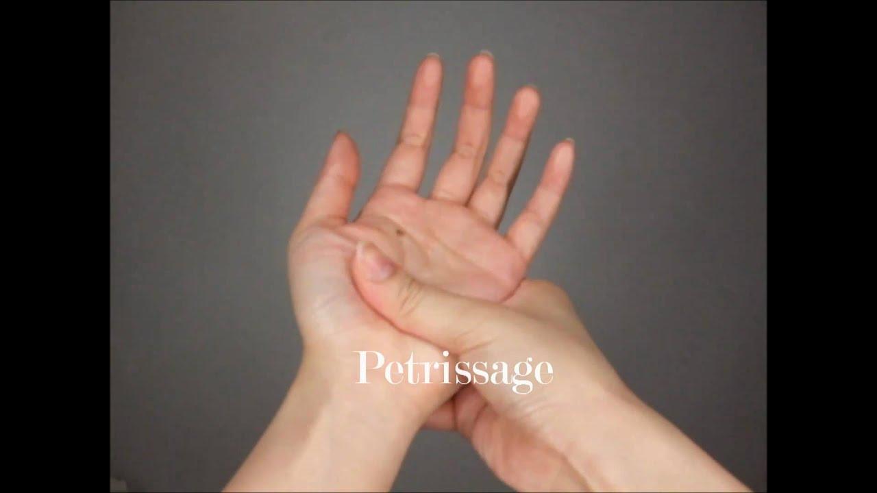 pattanáskezelés az ujjak között
