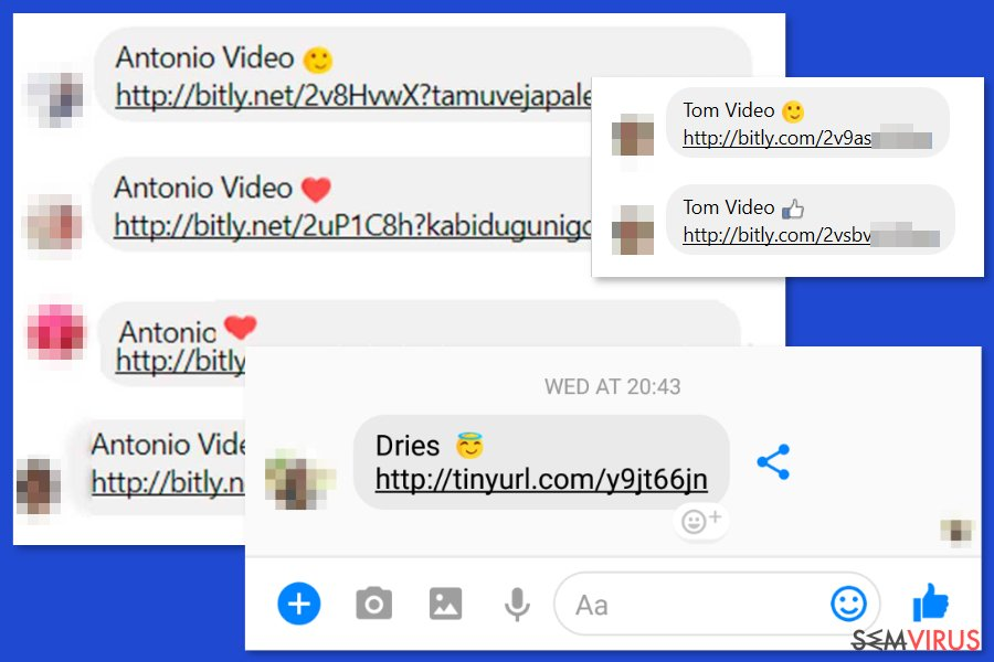 vírusok a facebook-on